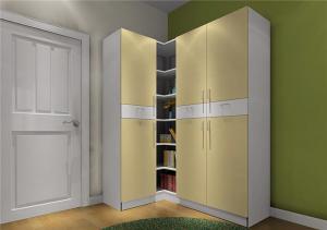 实木开放式整体衣柜
