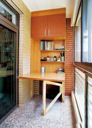 阳台书桌实景图