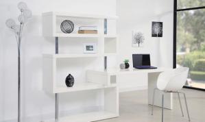 家用书桌书柜组合