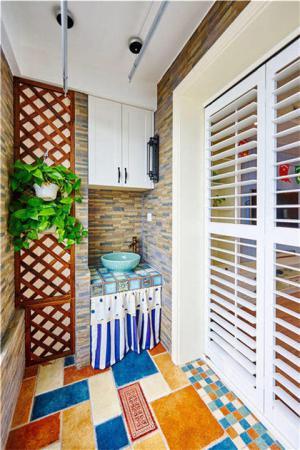 洗衣机放阳台效果图洗衣机