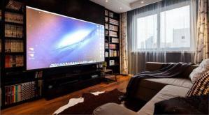 电视书柜一体效果图电视背景墙做书柜