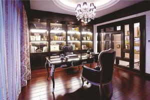 欧式豪华组合书柜设计图