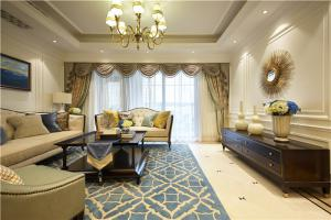 奢华欧式沙发背景墙图片