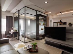 公寓时尚客厅背景墙设计