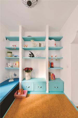 儿童书房设计飘窗书柜