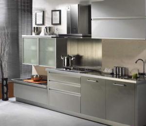 旧版不锈钢厨房橱柜