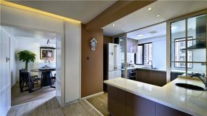 家庭厨房橱柜实景图
