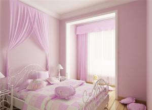 粉色儿童房颜色