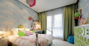 儿童房窗帘效果图性价比