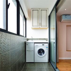 小阳台装修效果图洗衣台的设计