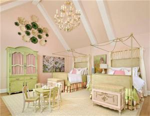 国外两个孩子儿童房设计素
