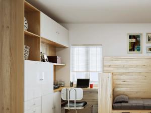 维意定制卧室转角书桌加衣柜