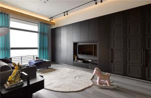简易公寓客厅电视墙效果图