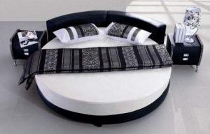 卧室家具圆形床卧室效果图