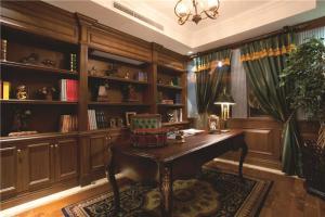 全实木中式书房装修效果图