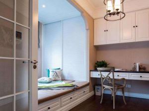 美式小阳台改卧室效果图