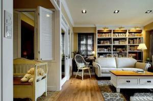 客厅书柜茶几沙发搭配