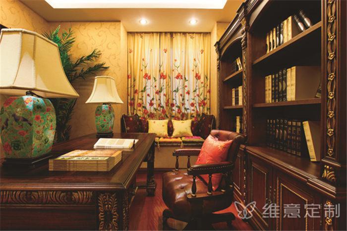 中式多功能书桌素材