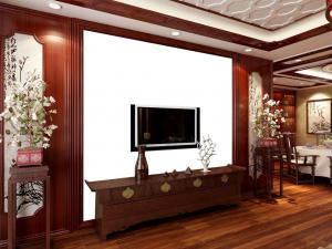 中式背景墙3D效果图