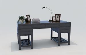 3D模型中式书桌