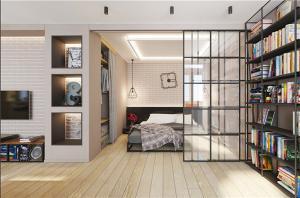 40小户型装修卧室隐形门