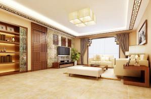 中式风格客厅隐形门装修效