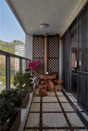 小阳台装修效果图榆木家具