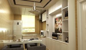 小户型厨房酒柜装修效果图