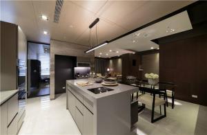 厨房整体橱柜开放式实景图