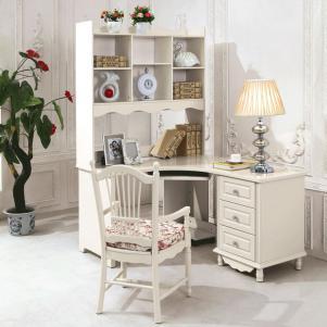 欧式书桌书柜组合办公家具