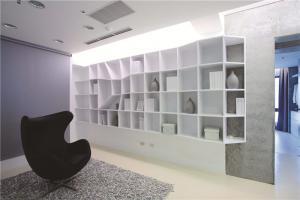 现代简约客厅书柜墙背景墙
