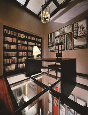 创意开放式书房装修效果图