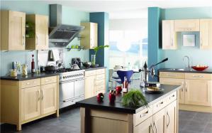 整体开放式厨房橱柜效果图