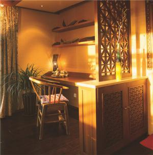 中式榆木多功能书桌