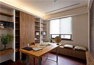 移动门新中式书柜