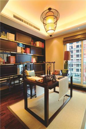 新中式书柜布置