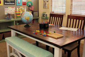儿童双人书桌