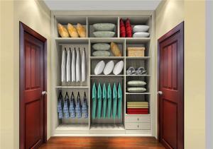 小清新现代简约整体衣柜