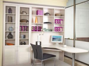 转角书桌组合书柜