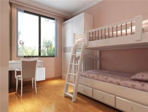 现代家装设计卧室高低床装