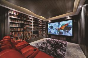 欧式书房装修效果图书柜背