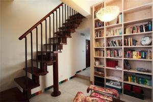 书房布置效果图书柜设计摆放