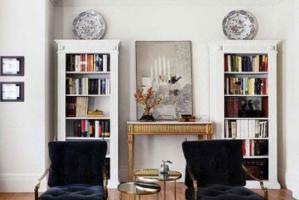 小户型客厅书柜装修效果