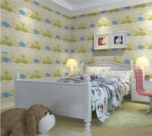 儿童房背景墙壁纸选择