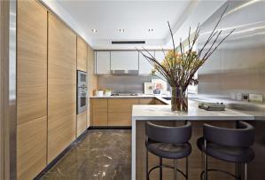 厨房间橱柜吧台搭配