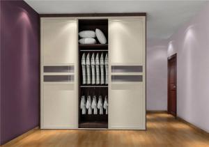 温馨现代简约整体衣柜