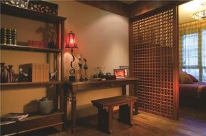传统中式组合书桌