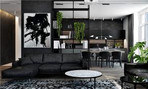 公寓设计客厅书柜