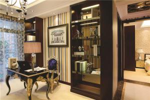 客厅小书房书柜