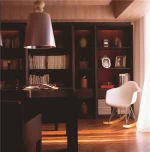 组合书柜写字台
